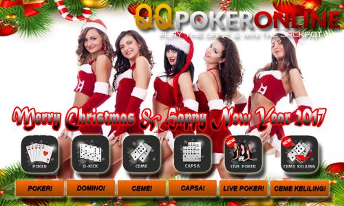 QQ Poker Online Indonesia Bonus Natal Dan Tahun Baru 2017