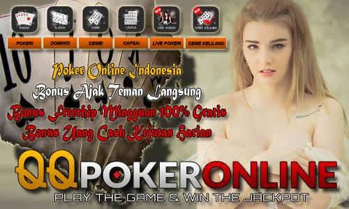 Bonus Cashback QQ Poker Online Indonesia Terpercaya