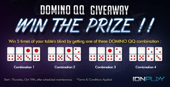 Event Bonus Domino QQ 19 Oktober 2017