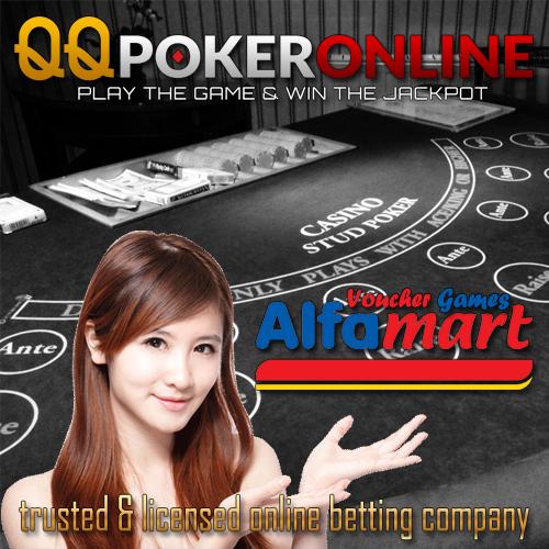 BANNER QQ POKER ONLINE - VOUCHER GAME ALFAMART